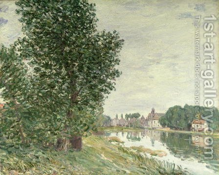 Moret-sur-Loing, 1892 by Alfred Sisley - Reproduction Oil Painting