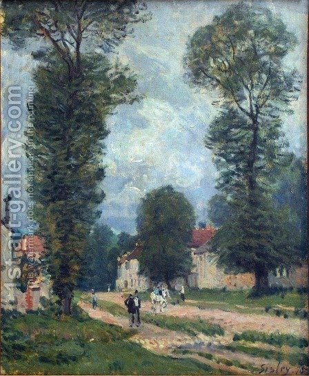The Road to Marly-le-Roi, or The Road to Versailles, 1875 by Alfred Sisley - Reproduction Oil Painting