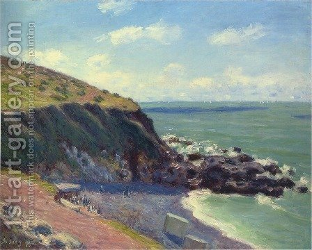 Lady's Cove, Langland Bay, England, 1897 by Alfred Sisley - Reproduction Oil Painting