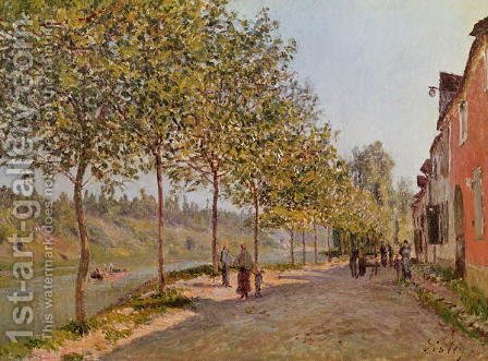 June Morning in Saint-Mammes, 1884 by Alfred Sisley - Reproduction Oil Painting