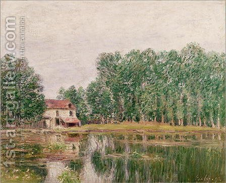 The Banks of the Canal at Moret-sur-Loing, 1892 by Alfred Sisley - Reproduction Oil Painting