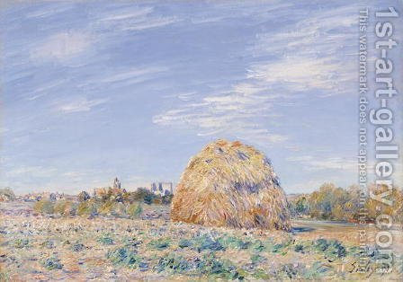Haystack on the Banks of the Loing, 1891 by Alfred Sisley - Reproduction Oil Painting