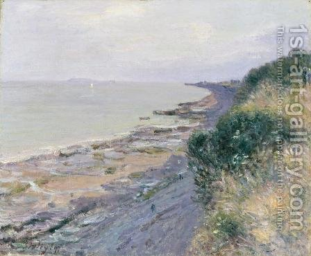 Alfred Sisley: The Cliff at Penarth, Evening, Low Tide, 1897 - reproduction oil painting