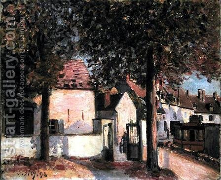 Moret-sur-Loing (Rue de Fosses), 1892 by Alfred Sisley - Reproduction Oil Painting
