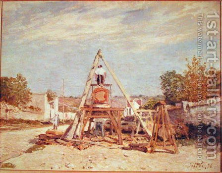 The Woodcutters, 1876 by Alfred Sisley - Reproduction Oil Painting