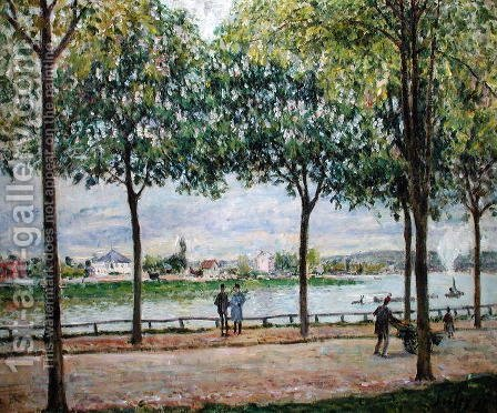 The Avenue of Chestnut Trees, St. Cloud, 1878 by Alfred Sisley - Reproduction Oil Painting