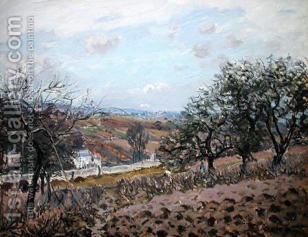 Bougival, 1876 by Alfred Sisley - Reproduction Oil Painting
