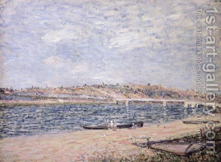 The River Banks at Saint-Mammes by Alfred Sisley - Reproduction Oil Painting