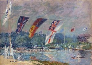 Famous paintings of Other: Regatta at Molesey, 1874