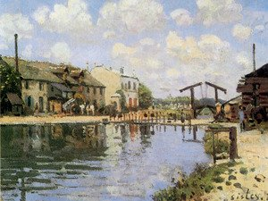 Reproduction oil paintings - Alfred Sisley - The Canal Saint-Martin, Paris, 1872