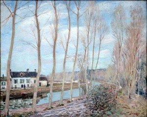 Reproduction oil paintings - Alfred Sisley - The Loing Canal, 1892