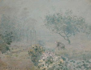 Reproduction oil paintings - Alfred Sisley - The Fog, Voisins, 1874
