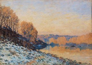 Reproduction oil paintings - Alfred Sisley - Port-Marly, White Frost, 1872