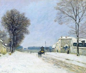 Reproduction oil paintings - Alfred Sisley - Winter, Snow Effect, 1876