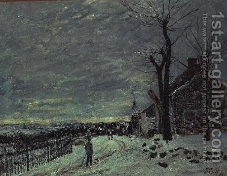 Snow at Veneux-Nadon, c.1880 by Alfred Sisley - Reproduction Oil Painting