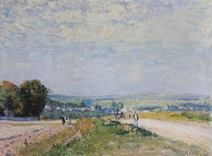 Reproduction oil paintings - Alfred Sisley - The Road to Montbuisson at Louveciennes, 1875