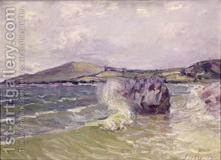 Alfred Sisley: Lady's Cove, Wales, 1897 - reproduction oil painting