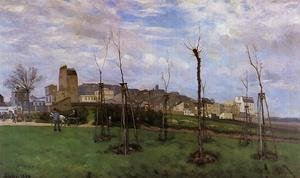 Reproduction oil paintings - Alfred Sisley - View of Montmartre from the Cite des Fleurs, Les Batignolles, 1869