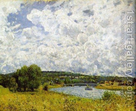 Alfred Sisley: The Seine at Suresnes, 1877 - reproduction oil painting