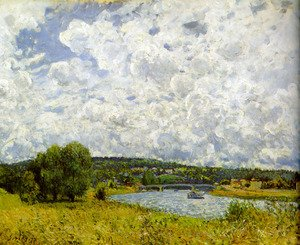Reproduction oil paintings - Alfred Sisley - The Seine at Suresnes, 1877