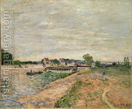 Saint-Mammes, 1885 2 by Alfred Sisley - Reproduction Oil Painting