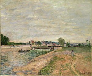 Reproduction oil paintings - Alfred Sisley - Saint-Mammes, 1885 2