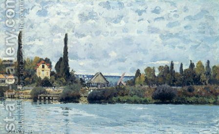 The Seine at Bougival, 1873 2 by Alfred Sisley - Reproduction Oil Painting