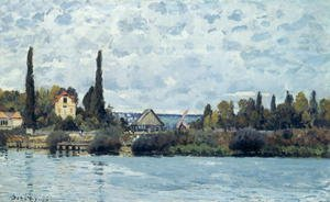 Reproduction oil paintings - Alfred Sisley - The Seine at Bougival, 1873 2