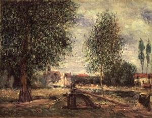 Reproduction oil paintings - Alfred Sisley - Landscape at Moret-sur-Loing