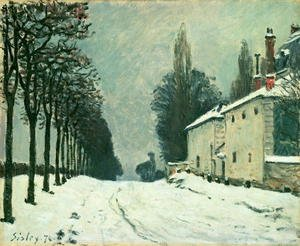 Reproduction oil paintings - Alfred Sisley - La Route de Louveciennes, Hiver, 1874
