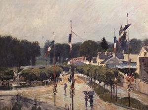 Reproduction oil paintings - Alfred Sisley - Fourteenth of July at Marly-le-Roi, 1875