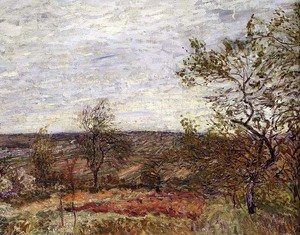 Reproduction oil paintings - Alfred Sisley - Windy Day at Veneux, 1882