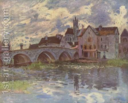 The Bridge of Moret-sur-Loing, 1887 by Alfred Sisley - Reproduction Oil Painting