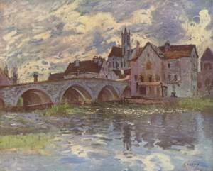 Reproduction oil paintings - Alfred Sisley - The Bridge of Moret-sur-Loing, 1887