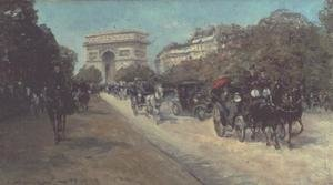 Famous paintings of Cars: Boulevard in Paris
