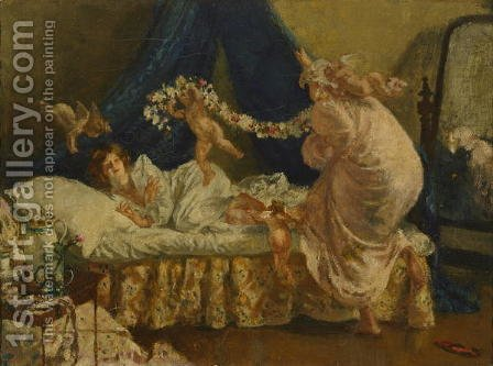 The Arrival of Cupid, from Memories of my Dead Wife, c.1906 by Henry Tonks - Reproduction Oil Painting