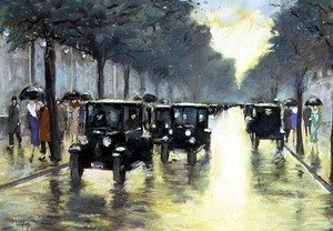 Famous paintings of Cars: Street Scene