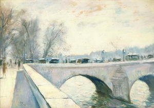 Famous paintings of Cars: Pont Royal, Paris, Winter