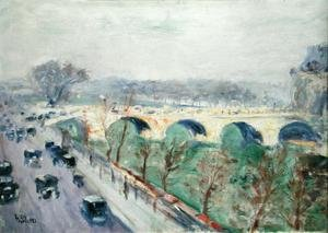 Famous paintings of Cars: The Pont Royal in Paris, 1928