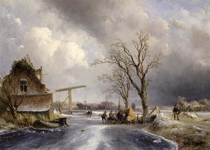 Famous paintings of Sport and Games: Winter scene, 1846