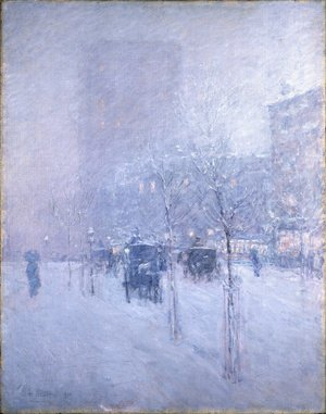 Famous paintings of Trees: Late Afternoon, New York, Winter, 1900