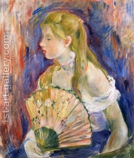 Berthe Morisot: Young Girl with a Fan 1893 - reproduction oil painting