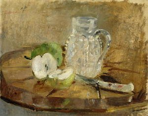 Reproduction oil paintings - Berthe Morisot - Still Life with a Cut Apple and a Pitcher 1876
