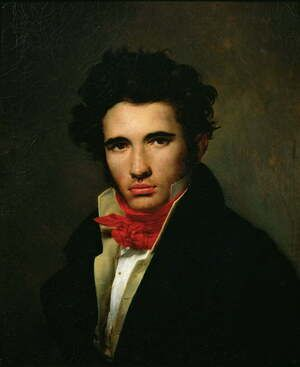 Academic Classicism painting reproductions: Self Portrait c.1818