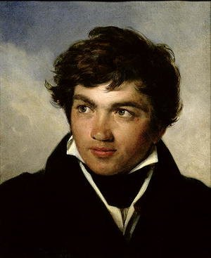 Famous paintings of Men: Portrait of Achille-Etna Michallon (1796-1822) c.1818-19