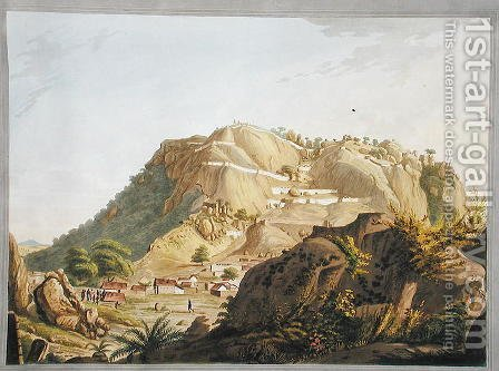 South-western view of Ootra-Durgum, 1804 by (after) Robert H.Colebrooke - Reproduction Oil Painting