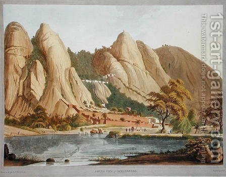 South view of Sewandroog by (after) Robert H.Colebrooke - Reproduction Oil Painting