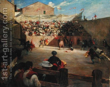 Training Fight in Biscay, 1888 by Gustave Colin - Reproduction Oil Painting