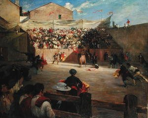 Famous paintings of Sport and Games: Training Fight in Biscay, 1888