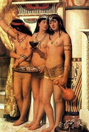 Reproduction oil paintings - John Maler Collier - Pharaohs Handmaidens